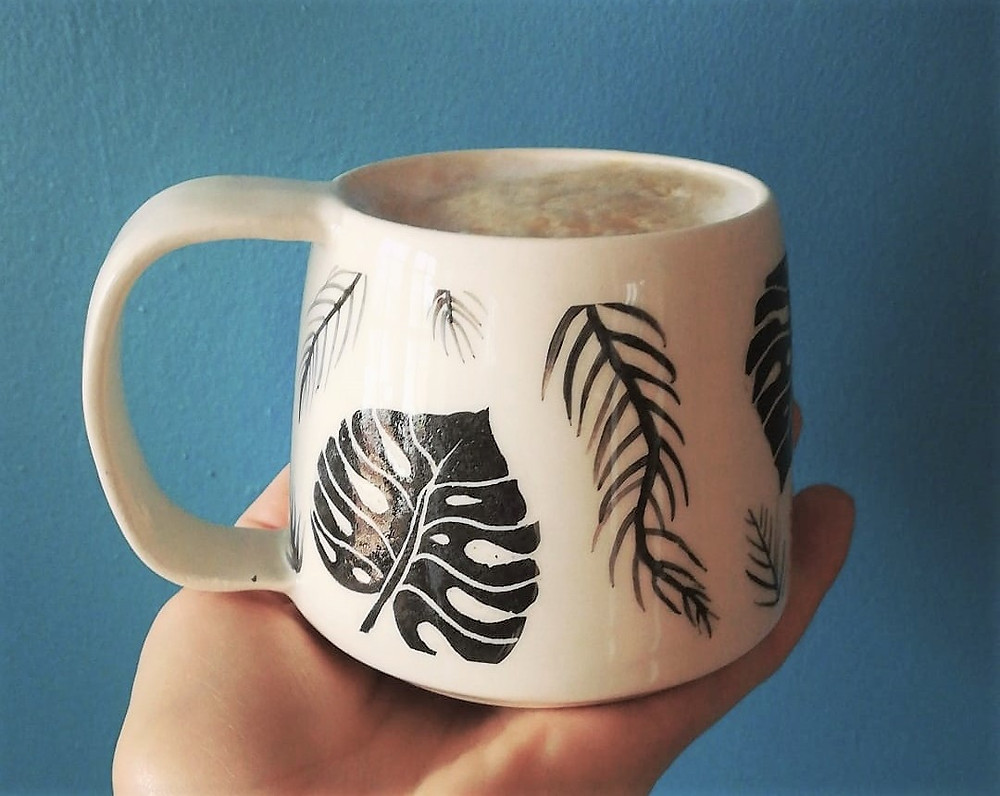 Irish pottery - ceramic tropical coffee cups