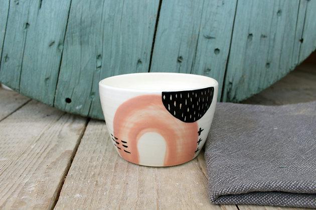 Blush Abstract Ceramic Breakfast Bowl - Handmade Irish Gifts - Irish Pottery - Tableware