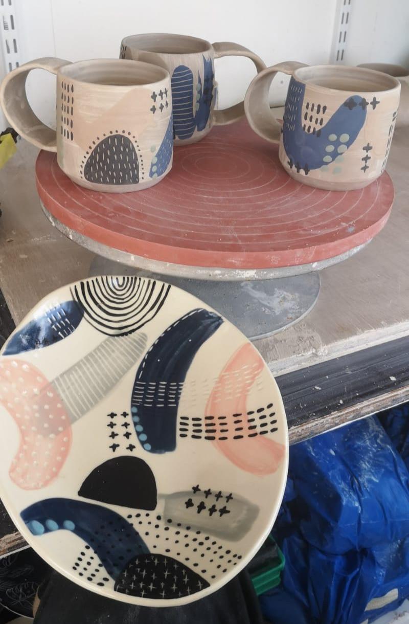 MAKA Ceramics, Ceramic Tableware Design, Irish Pottery, Prototypes, Coffee Cups, Dish