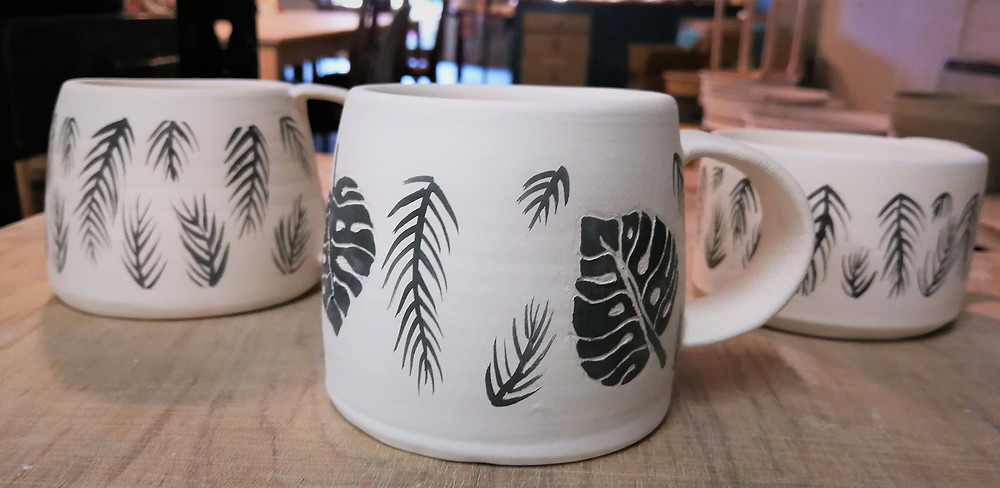 Irish ceramics - bisqued coffee cups