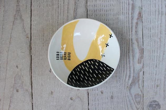 Yellow Abstract Dish- Handmade Irish Gifts - Irish Pottery - Tableware - New Home Gifts