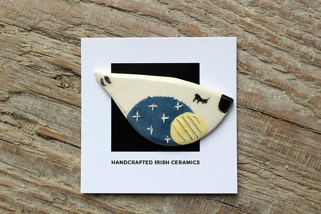 Ceramic Bird Brooch - Handmade Irish Gifts