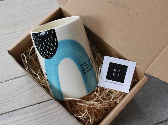 Yellow Abstract Ceramic Vase Gift Box - Handmade Irish Gifts - Irish Pottery - Homewares - Christmas Gifts