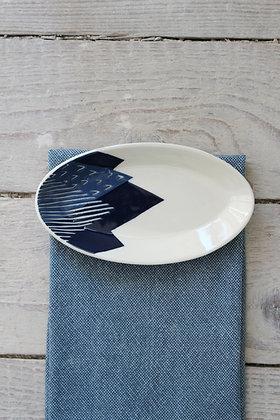Navy Peaks Ceramic Nibbles Bowl - Handmade Irish Gifts - Irish Pottery - Tableware