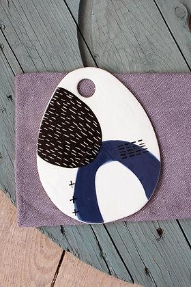 Navy Oval Ceramic Platter - Handmade Irish Gifts - Irish Pottery - Tableware