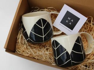 Leaf Coffee Cups Set
