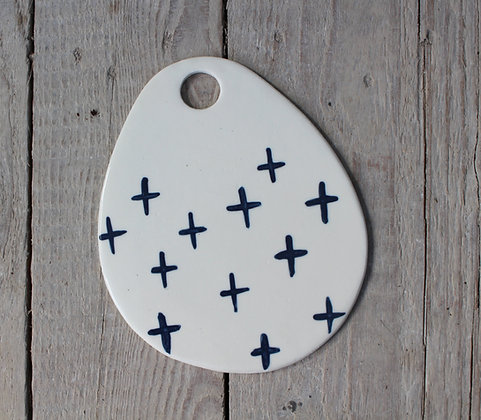 Navy Crosses Serving Platter