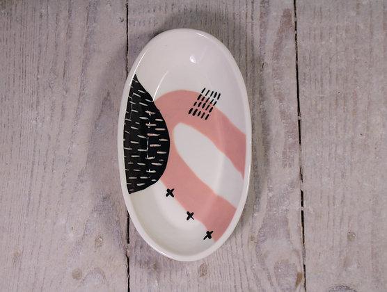 Blush Abstract Ceramic Olive Bowl - Handmade Irish Gifts - Irish Pottery - Tableware