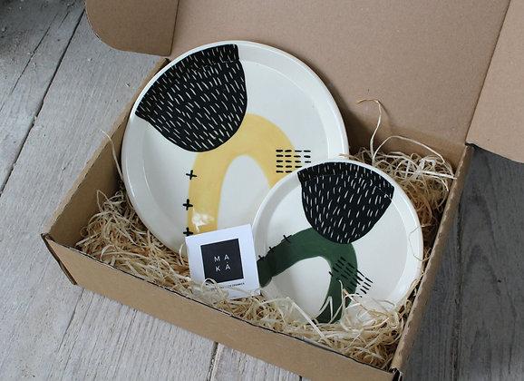 Yellow/Green Serving Dish Gift Set