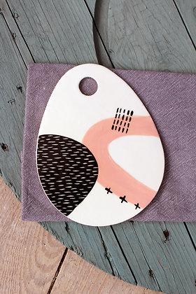 Blush Oval Ceramic Platter - Handmade Irish Gifts - Irish Pottery - Tableware