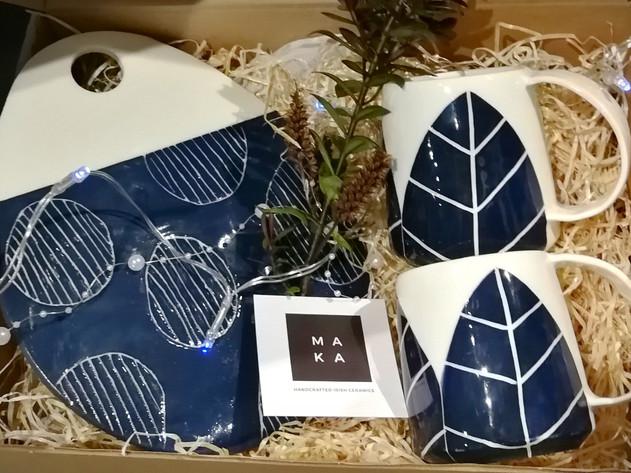 Platter Coffee Cups wedding gift set