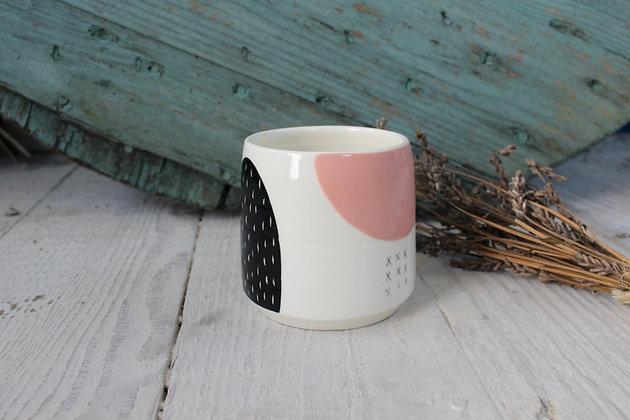 Blush/Green Abstract Ceramic Beaker - Handmade Irish Gifts - Irish Pottery - Homewares - New Home Gifts