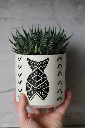 Fish Ceramic Planter - Succulent Plant Pot - Indoor Planter - Irish home-wares