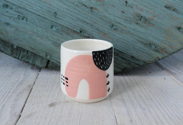 Blush Abstract Ceramic Beaker - Handmade Irish Gifts - Irish Pottery - Homewares - New Home Gifts