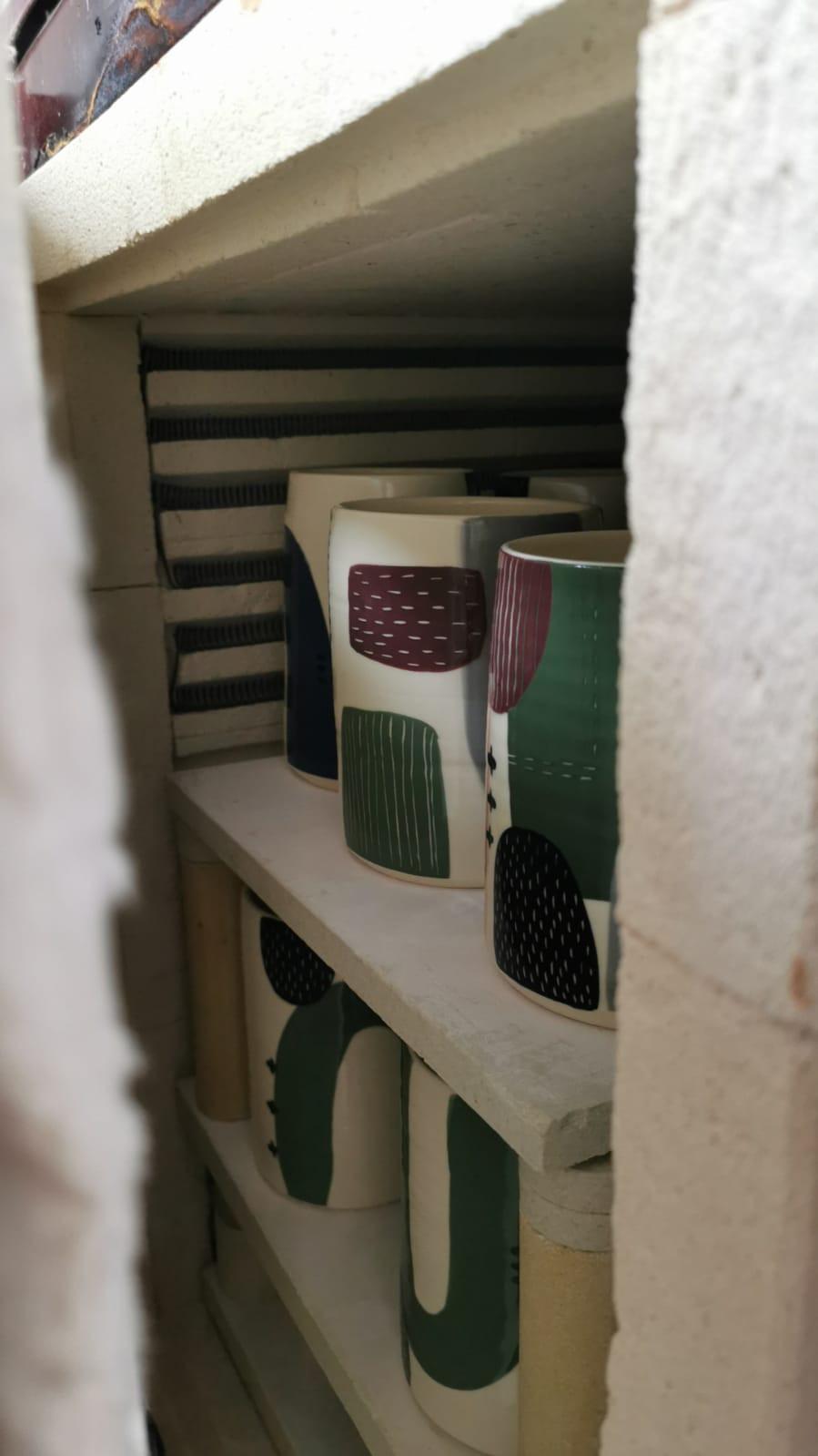 Glaze firing, kiln opening, ceramics