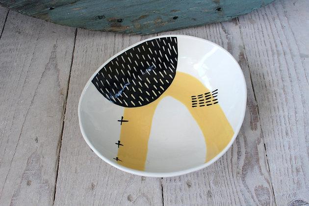 Yellow Abstract Dish - Handmade Irish Gifts - Irish Pottery - Tableware - New Home Gifts