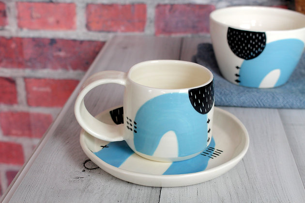 Blue Ceramic Coffee Cup - Handmade Irish Pottery – Gifts - Homewares