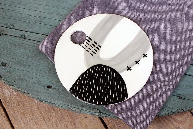 Grey Ceramic Platter - Handmade Irish Gifts - Irish Pottery - Tableware