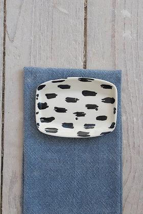 Scribble Rectangular Ceramic Soap Dish - Handmade Irish Gifts - Irish Pottery - Homewares - New Home