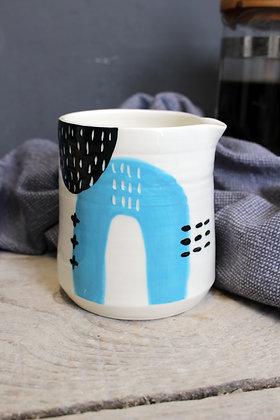 Blue Abstract Creamer Jug - Handmade Irish Pottery – Gifts