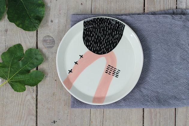 Blush Abstract Ceramic Dinner Plate - Handmade Irish Gifts - Irish Pottery - Tableware