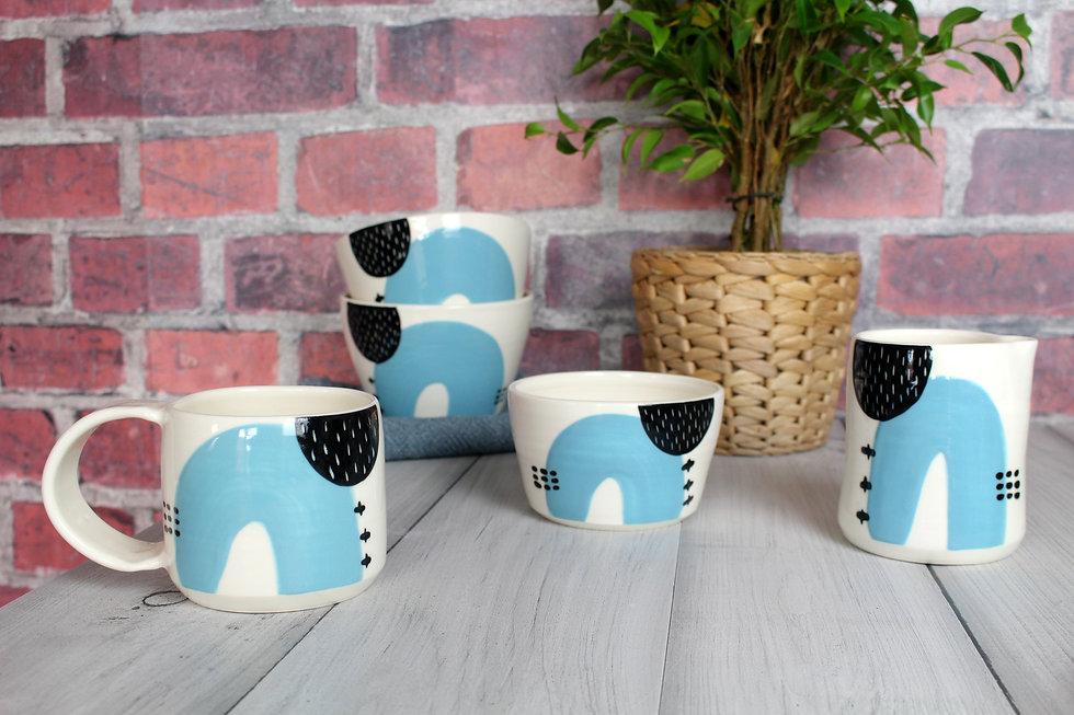 MAKA Ceramics Irish Pottery tableware bowls, jugs cups mugs