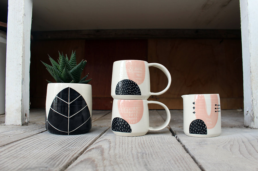 Ceramic Abstract Tableware - Irish Pottery