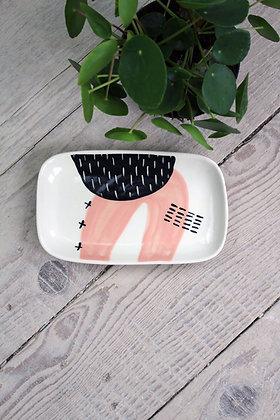 Blush Abstract Ceramic Small Platter - Handmade Irish Gifts - Irish Pottery - Tableware