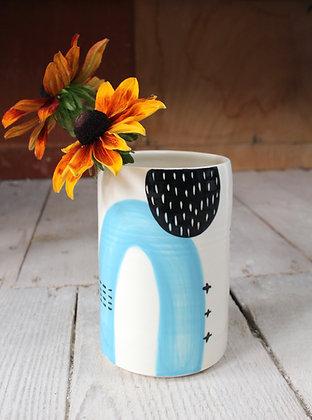 Abstract Blue Vase | Ceramic Homewares | Handmade Irish Gifts | Christmas Gifts