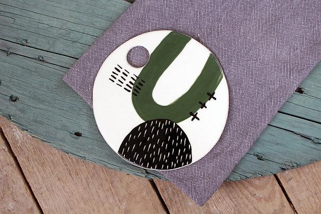 Green Ceramic Platter - Handmade Irish Gifts - Irish Pottery - Tableware