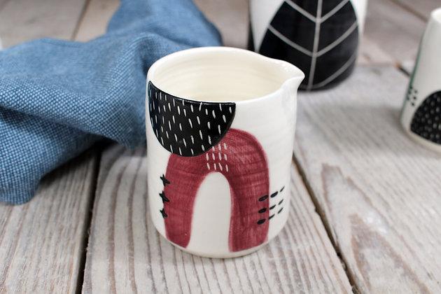 Ceramic Maroon Creamer Jug | Handmade Irish Pottery