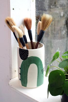 Abstract Green Vase | Ceramic Homewares | Handmade Irish Gifts | Christmas Gifts