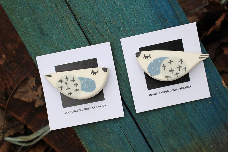 MAKA Ceramics - Bird Brooches - Irish Handmade Gifts