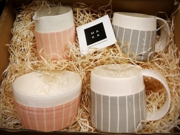 Pink Grey wedding gift set