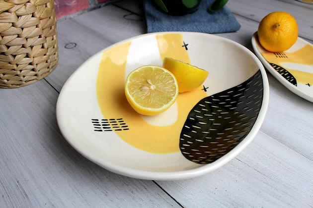 Yellow Handmade Dish - Handmade Irish Gifts - Irish Pottery - Tableware - New Home Gifts