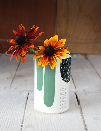 Abstract Multi Coloured Vase   Ceramic Homewares   Handmade Irish Gifts   Christmas Gifts