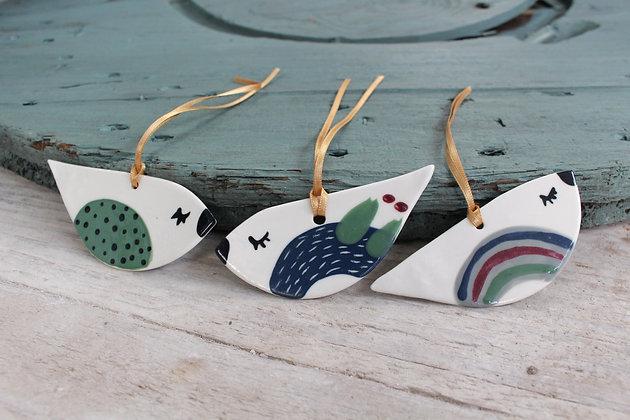 Bird decoration gift set | Ceramic Decoration | Handmade Irish Gifts | Christmas Gifts