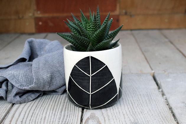 Leaf Ceramic Planter - Succulent Plant Pot - Indoor Planter - Irish home-wares