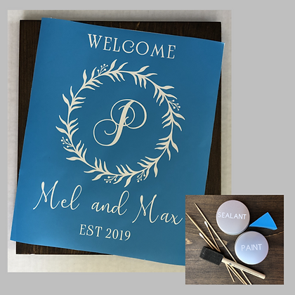 Welcome Sign with Monogram