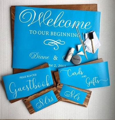 DIY Wedding Sign Package