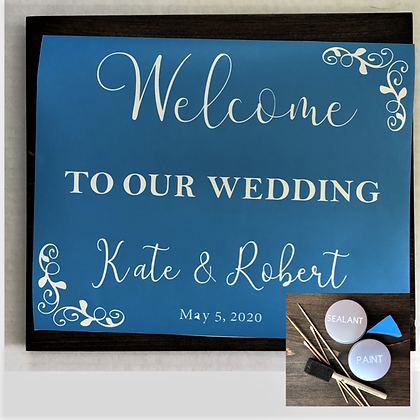 DIY Welcome To Our Wedding Sign