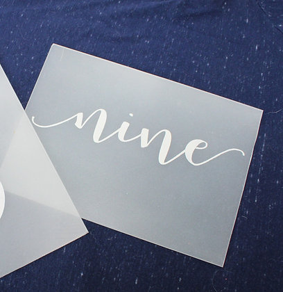 Acrylic Horizontal Opaque Table Number Rentals