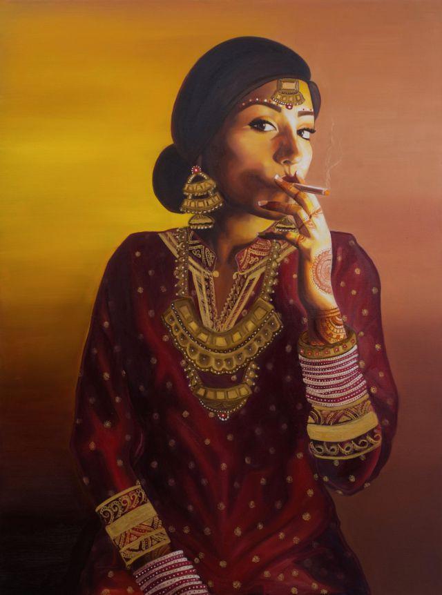 Badass Indo-Chinese Bride.(Nimisha Bhanot/Banga Studios)