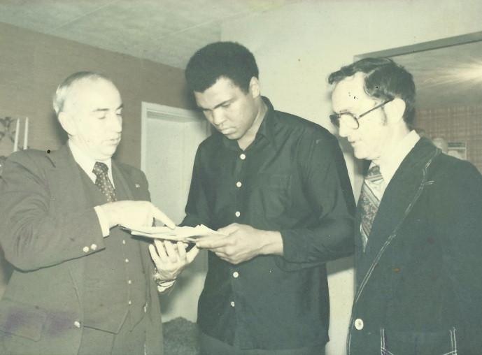 George O'Harra, Muhammad Ali, and Jack Healey 1976 via HRAC