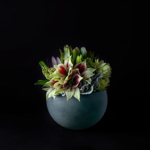 9. Red Green のブーケ+花器