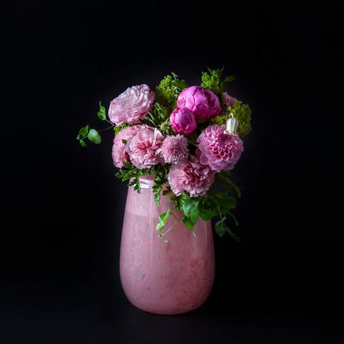 3. Pinkのブーケ+花器