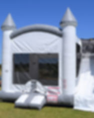 white bouncy castle in north texas_edite