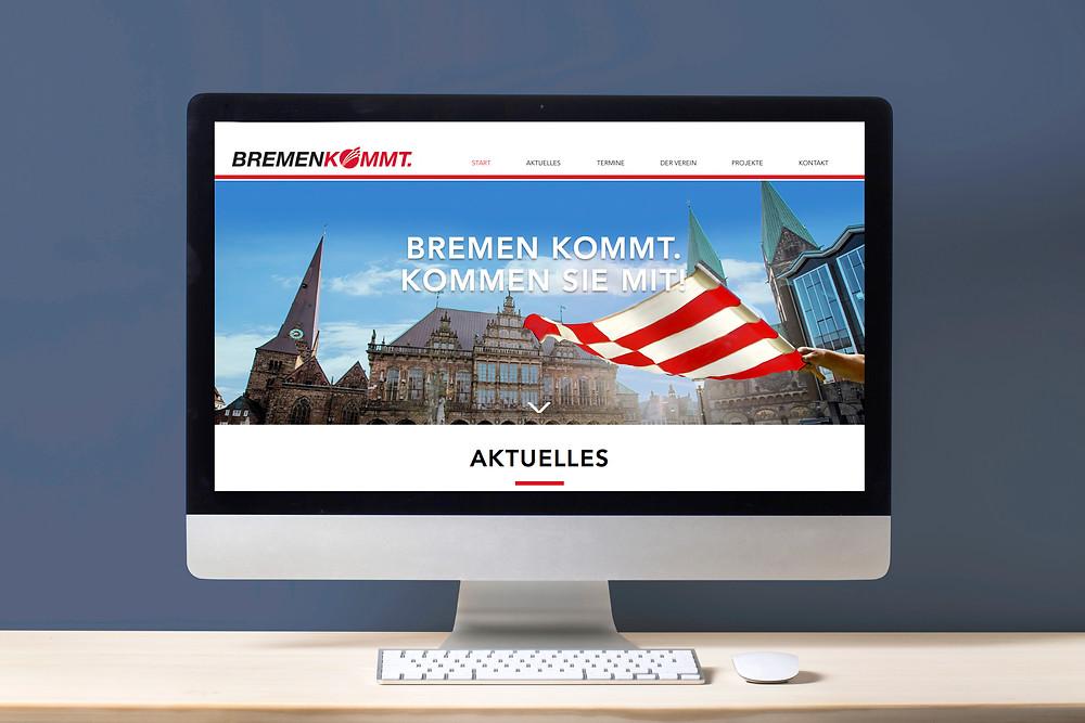 Webdesign und Relaunch Verein Bremen