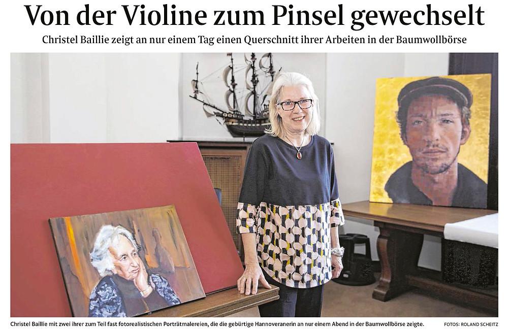 Ausstellung Christle Baillie (Weser Kurier)