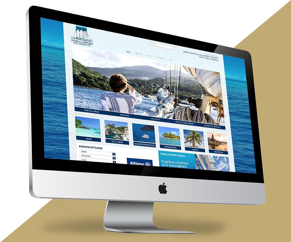 Webdesign Segel-Kreuzfahrten
